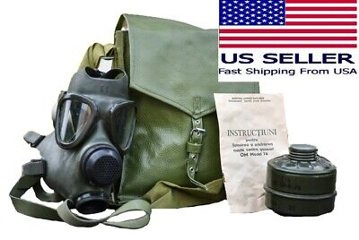 $39.99 • Buy Military Tactical Full Face Gas Mask Respirator M74 W 40mm Filter & Carry Bag