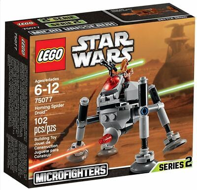New LEGO Star Wars 75077 Homing Spider Droid Micro Fighter Series 2 FREE POSTAGE • 24.99£