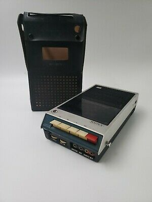 $44.99 • Buy VINTAGE 1968 SONY TC-100A PORTABLE CASSETTE TAPECORDER And Case (no Cables) G5