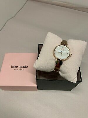 $ CDN75.19 • Buy Kate Spade KSW1561 Women's Hollis Rose Gold Tone Bangle 30mm Watch NWT