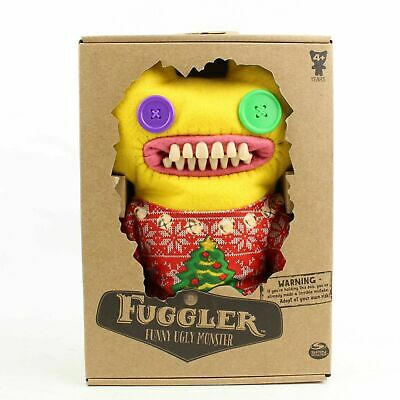 $ CDN48.57 • Buy NEW Spin Master FUGGLER Funny Ugly Monster Fuzzy Yellow Christmas Sweater 2019