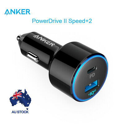 AU47.59 • Buy Anker Car Charger 49.5W PowerDrive Speed+ 2 Car Adapter 30W For C Port