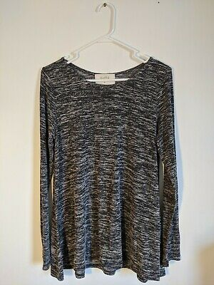 $ CDN35.88 • Buy Anthropologie Puella Women's Gray Black Heathered Darcy Swing Tunic Shirt Top XL
