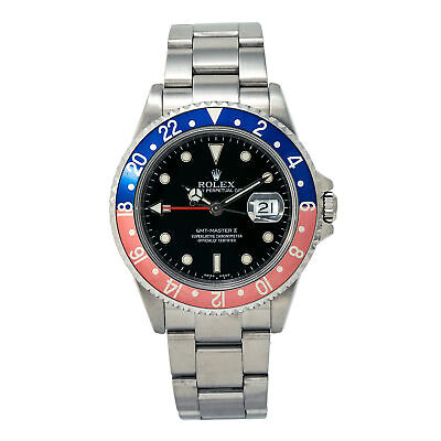 $ CDN14677.77 • Buy Rolex GMT-Master II 16710T Pepsi Men's Automatic Watch Stainless Black Dial 40MM