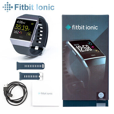 AU205.90 • Buy Fitbit Ionic Smart Fitness Watch Charcoal Smoke Small & Large Wristbands Incl