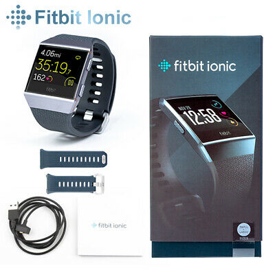 AU193.90 • Buy Fitbit Ionic Smart Fitness Watch Charcoal Smoke Small & Large Wristbands Incl
