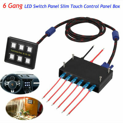 AU70.85 • Buy 6 Gang LED Back Switch Panel Capacitive Touch Screen 12/24V Marine Boat Caravan