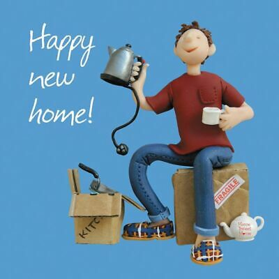 New Home Card - Male - Happy! Kettle - One Lump Or Two Quality NEW • 3.19£