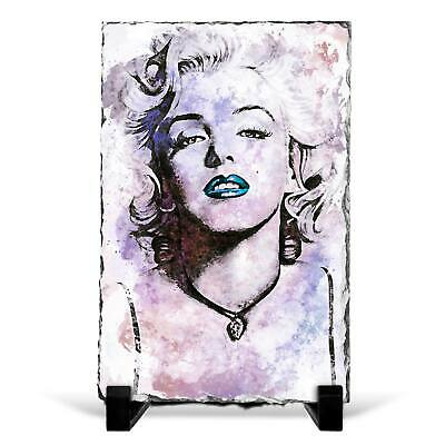 Marilyn Monroe In Abstract Slate Rock Framed Art Print Picture Ornament • 22.95£