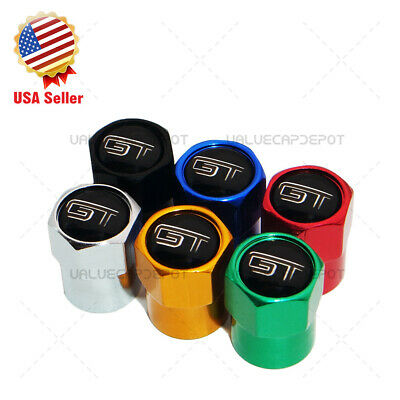 $8.99 • Buy Hex Mustang GT Logo Emblem Car Wheels Tire Air Valve Caps Stem Dust Cover Sport