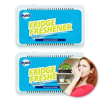 FRIDGE FRESHENER 2 PACK Fresh Deodoriser Clean Kitchen Smelly Odour Eliminator • 4.01£