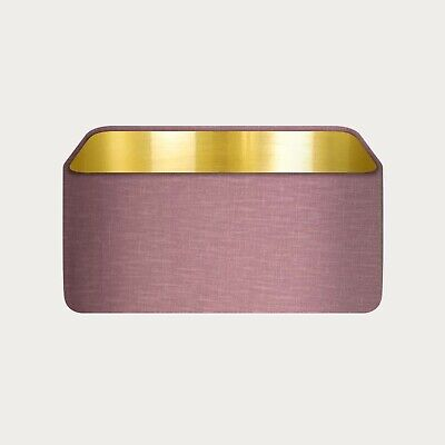 £31.50 • Buy Rounded Rectangle 100% Mauve Linen With Brushed Gold Metallic Lining