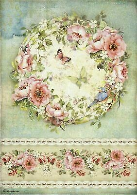 £1.89 • Buy A/4 Rice Paper For Decoupage Scrapbooking Roses And Butterfly