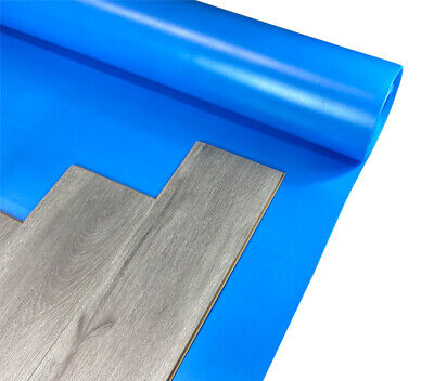 Acoustic Vinyl Click LVT Flooring Blue Underlay - Also With SPC / Wood Laminate • 34.99£