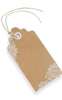 Club Green Kraft Lace Luggage Tag Place Card X 10 • 1.99£