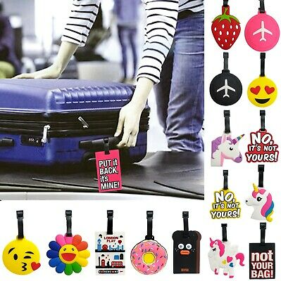 £3.45 • Buy Silicon Rubber Luggage Baggage Suitcase Identify Tag Id Holder Bag Name Address