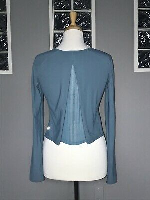 $ CDN66 • Buy Lululemon Play Off Pleats Long Sleeve 4 6 Persian Blue Pleated Back Eeuc