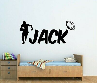 £12 • Buy Personalised Name Rugby Ball Player Vinyl Wall Art Sticker Boys Bedroom Decor