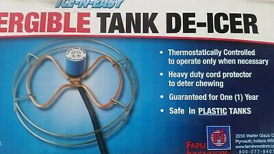 $33.99 • Buy 1500 Watt Submergible Stock Tank Heater De Icer Thermostat Controlled New In Box