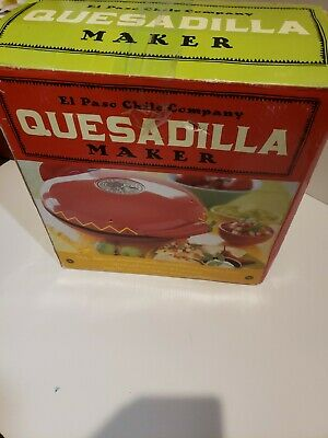 $89 • Buy New Open Box  El Paso Chile Company • 10023 •Quesadilla Maker • Non-Stick+Manual