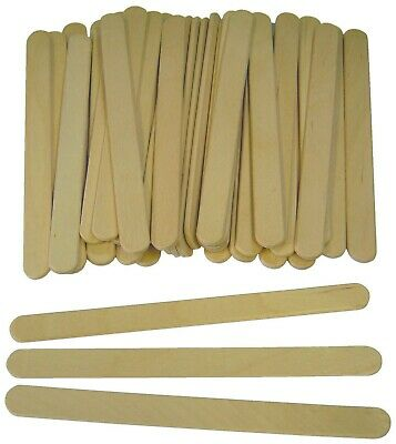 Lollipop Lolly Wooden Sticks Natural Craft Model Making, Ice Lollies 10-6000  • 1.15£