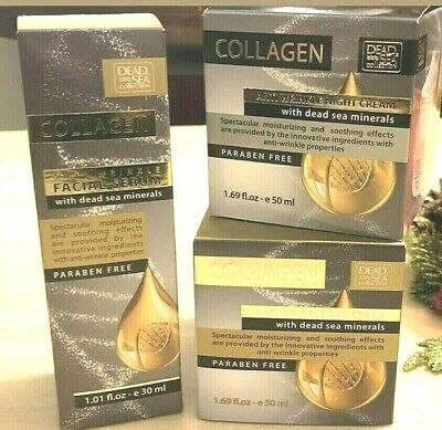 £14.99 • Buy Dead Sea Collection Anti Wrinkle COLLAGEN Face Set - Day & Night Cream + Serum