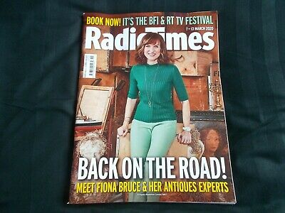 £7 • Buy Radio Times Magazine 7th March 2020 Fiona Bruce Antiques Show Noughts & Crosses