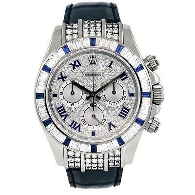 $ CDN111836.41 • Buy Rolex 116599 Daytona 18k White Gold With Diamonds And Sapphires