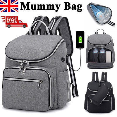 Baby Diaper Nappy Mummy Hospital Backpack Maternity Changing Bag Multifunctional • 12.99£