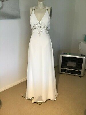 AU45 • Buy Wedding Dress Sz 10 - Exquisite By FGF - Stunning Ivory Gown Padded Bust NWOT