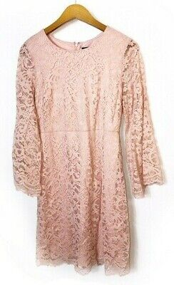 $ CDN44.31 • Buy Ivanka Trump | Pink Lace Bell Sleeve Dress | Size 8