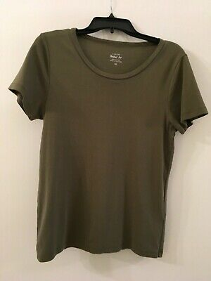 $9 • Buy  J. Crew Perfect Fit Short Sleeve Tee Olive Green Size XL