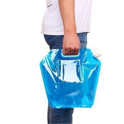 Camping Hiking 5L Folding Water Storage Bag Outdoor Travel Accessories Useful • 6.22£