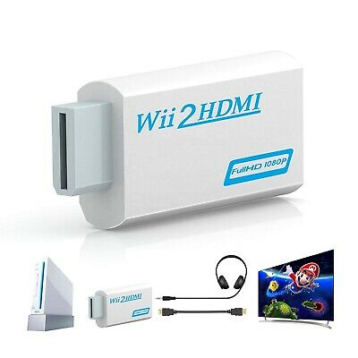 £4.95 • Buy For Wii To HDMI 720P 1080P HD Video Audio Converter Adapter Upscaling Nintendo