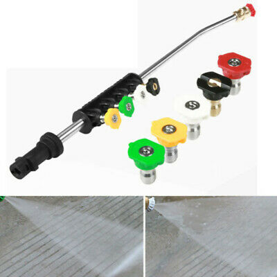 $ CDN21.62 • Buy Car Pressure Washer Wand Extension With Adapter Lance 5 Spray Nozzle Parts Set