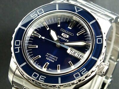 $ CDN234.63 • Buy SEIKO 5 SNZH53K1 Automatic 100m Diver New In Box Navy !
