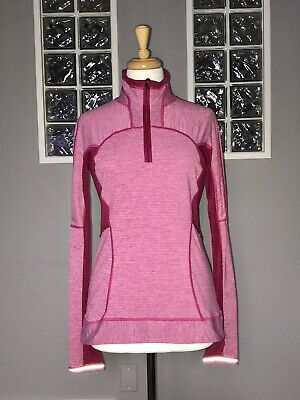 $ CDN62.40 • Buy Lululemon Run For Gold 1/2 Zip 4 Heathered Bumble Berry Pullover Long Sleeve