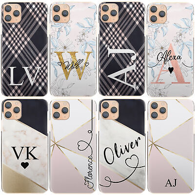 AU12.90 • Buy Personalised Initial Phone Case, With Name, Flower Marble Hard Cover For Google