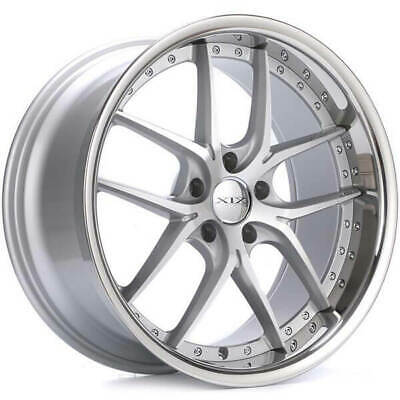 $1749 • Buy (4) 20  Staggered XIX Wheels X61 Silver Machined With SS Lip Rims (B1)
