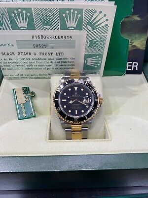 $ CDN12217.94 • Buy Rolex Submariner Black Dial 16803 Two Tone Box Papers 1986