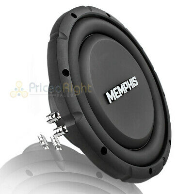 $119.95 • Buy Memphis 10  Subwoofer Dual 4 Ohm Street Reference Shallow Slim 500 Watt SRXS1044