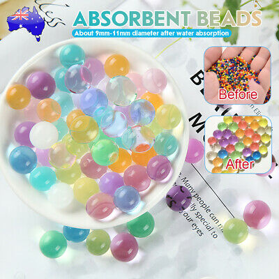 AU5.59 • Buy 10000Pcs Orbeez Crystal Water Balls Jelly Gel Beads Plant Vases Colorful / Clear
