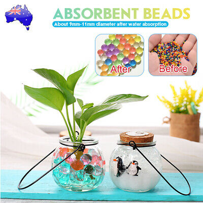 AU17.99 • Buy 50000Pcs Orbeez Crystal Water Balls Jelly Gel Beads Plant Vases Home Multi Color