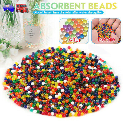 AU17.99 • Buy 10000 Crystal Soil Water Balls Orbeez Jelly Gel Beads Plant Vases Multi Colors