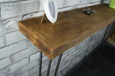 Hallway Handmade Rustic Timber Console Table Steel Hairpin Legs Industrial Style • 59.95£