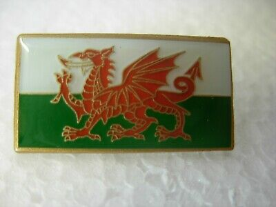 Welsh Flag Flag Pin Badge. Lapel. Brand New. Wales St David, Dragon Design • 1.25£