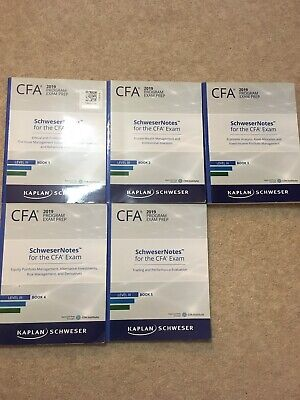 £40 • Buy Cfa Level 3 SchweserNotes Books 1-5,  2019 Version (contains Minor Marks)