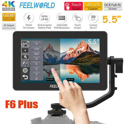 AU237.58 • Buy FEELWORLD F6 Plus 5.5  Screen Touch Field Video DSLR Monitor With 3D Lut For
