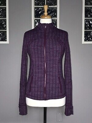 $ CDN70.20 • Buy Lululemon Forme Jacket 8 Ziggy Wee September Plum Euc Cuffins Slim Fit