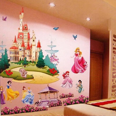 £8.68 • Buy Kids Bedroom Art -Large Princess Castle Wall Stickers Colorful Vinyl Decal Girls